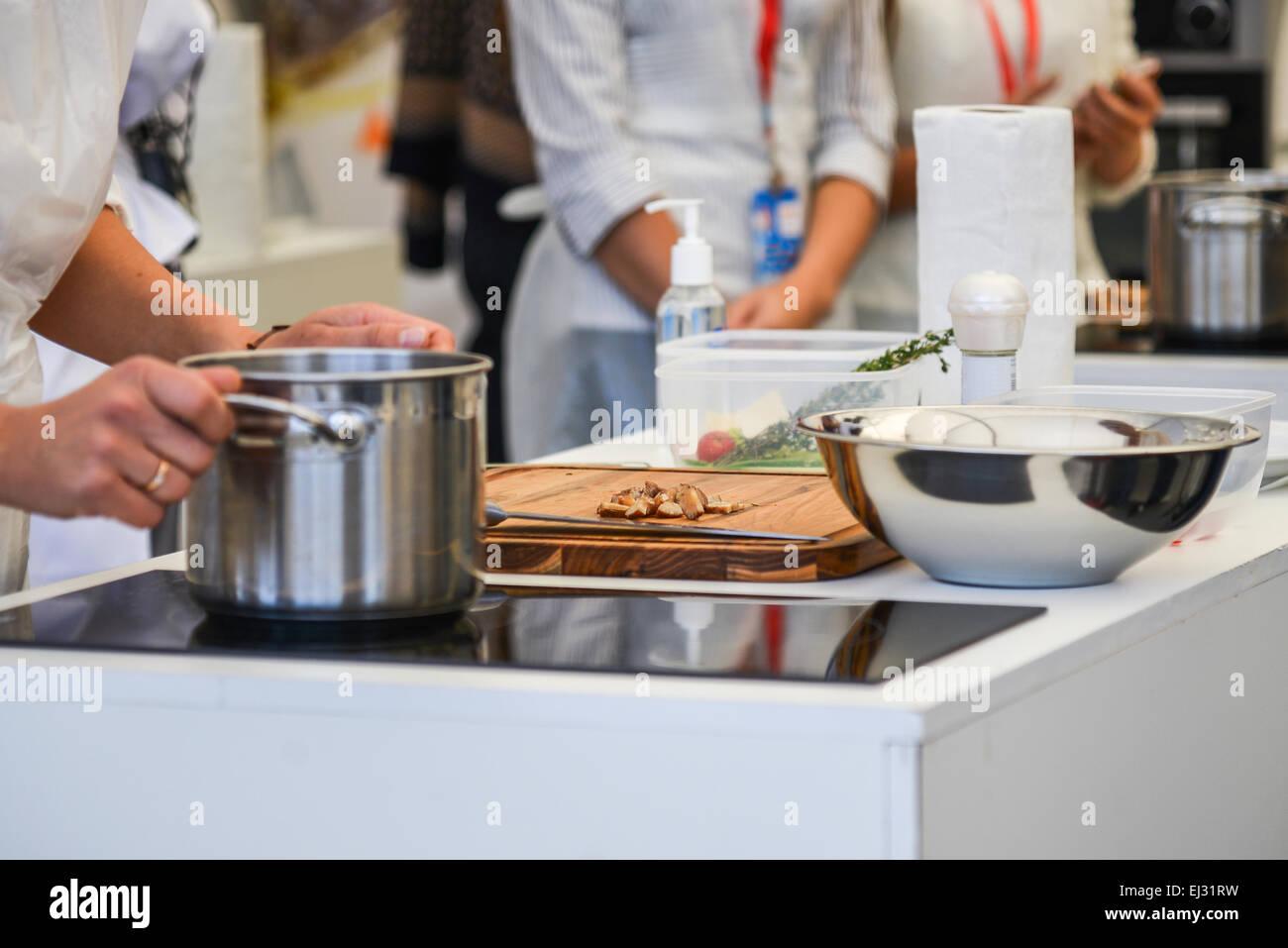 modern kitchen utensils - Stock Image