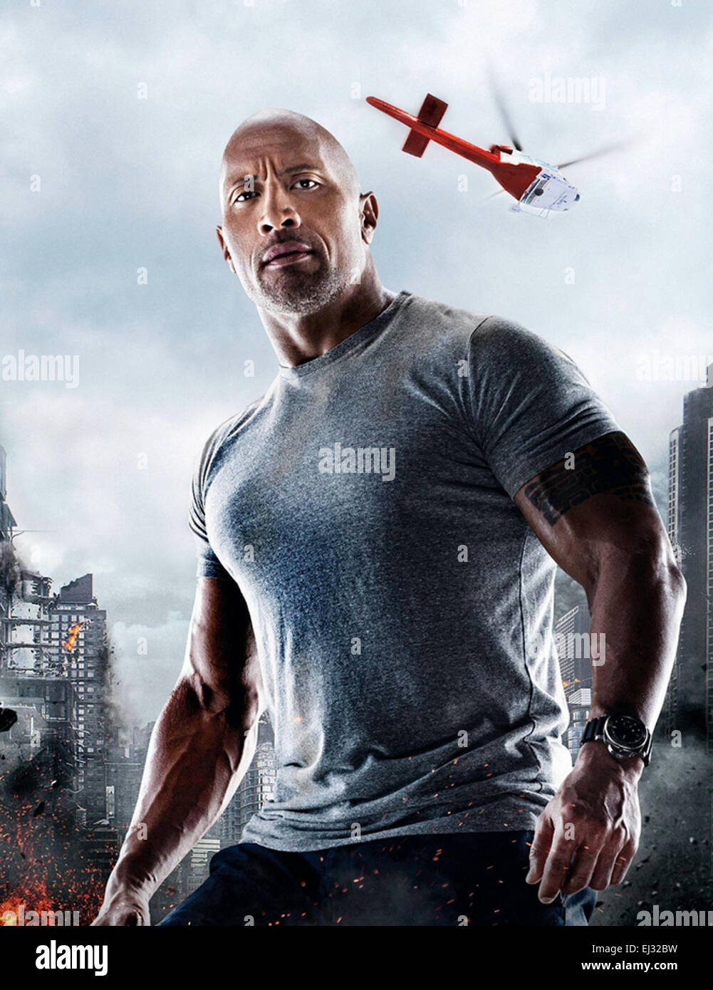 San Andreas 2015 Warner Bros Film With The Rock Stock Photo Alamy