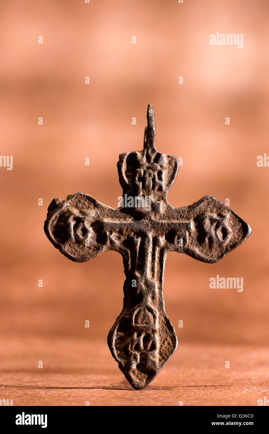 Byzantine cross pendant stock photos byzantine cross pendant stock ancient byzantine crucifix pendant in studio setting stock image mozeypictures Image collections