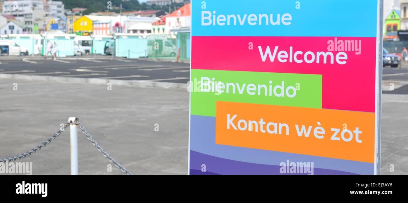 English Spanish Creole Languages Stock Photos & English