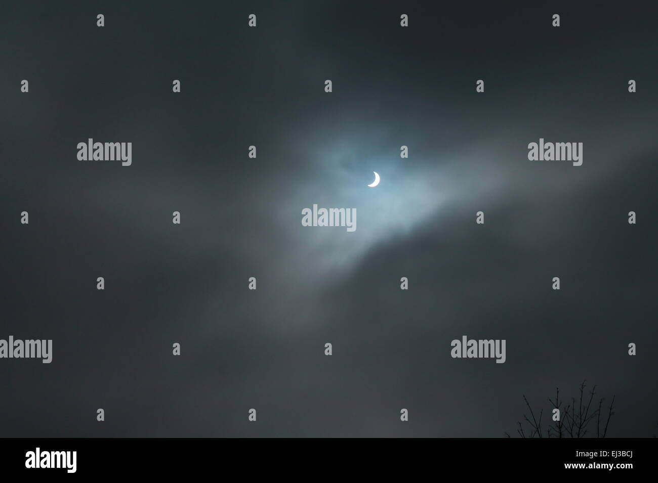 Solar eclipse - Stock Image
