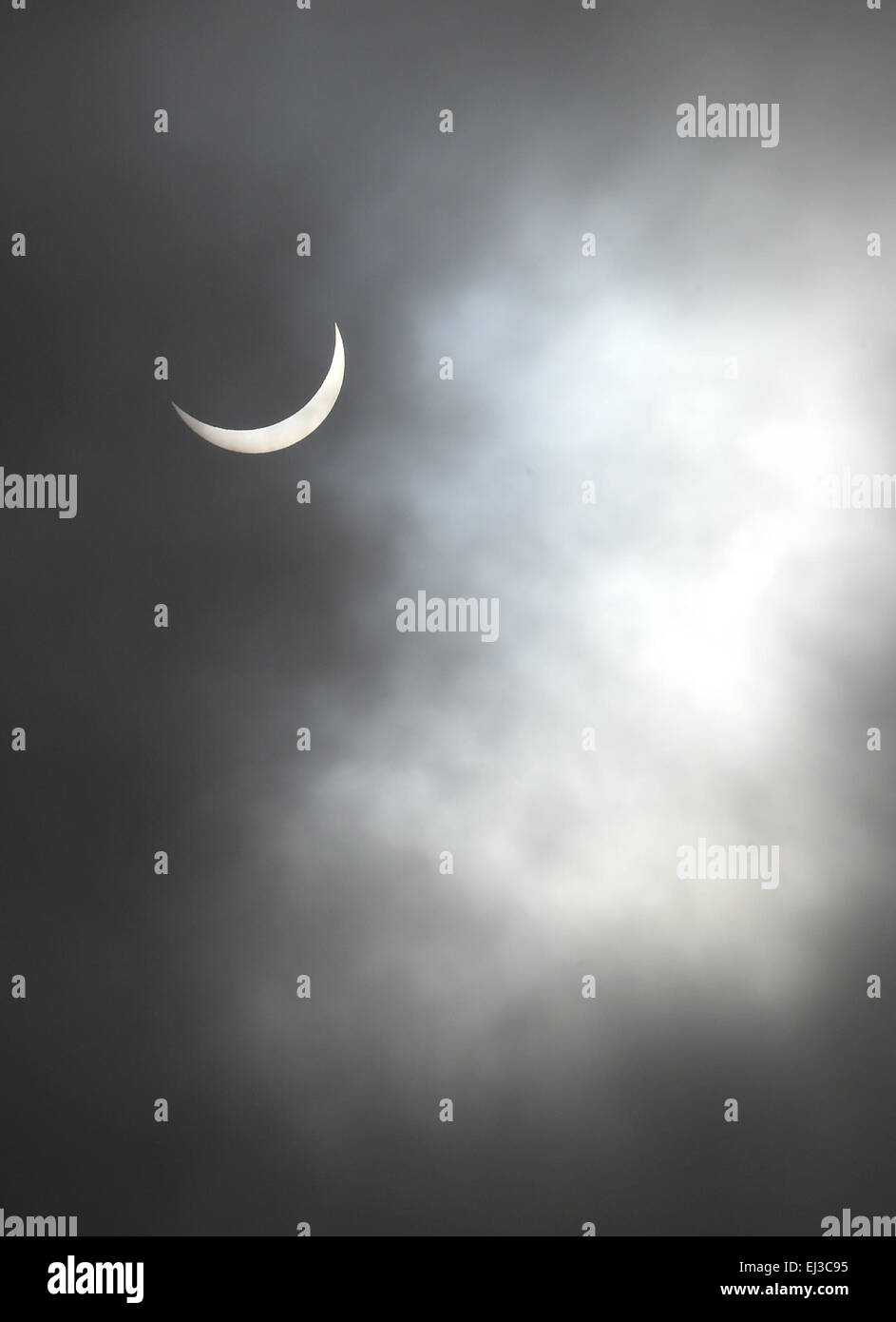 Partial Solar Eclipse - Stock Image