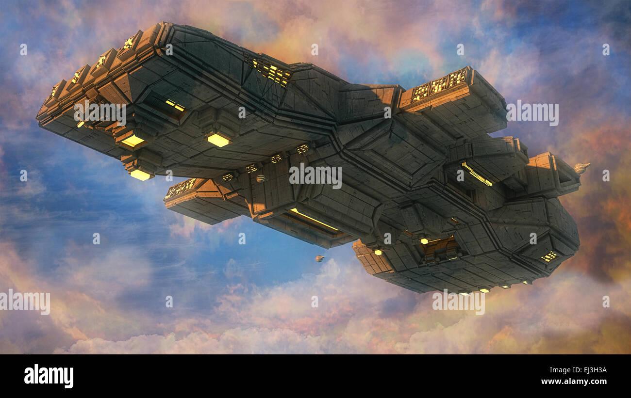 SCIFI Alien UFO - Stock Image
