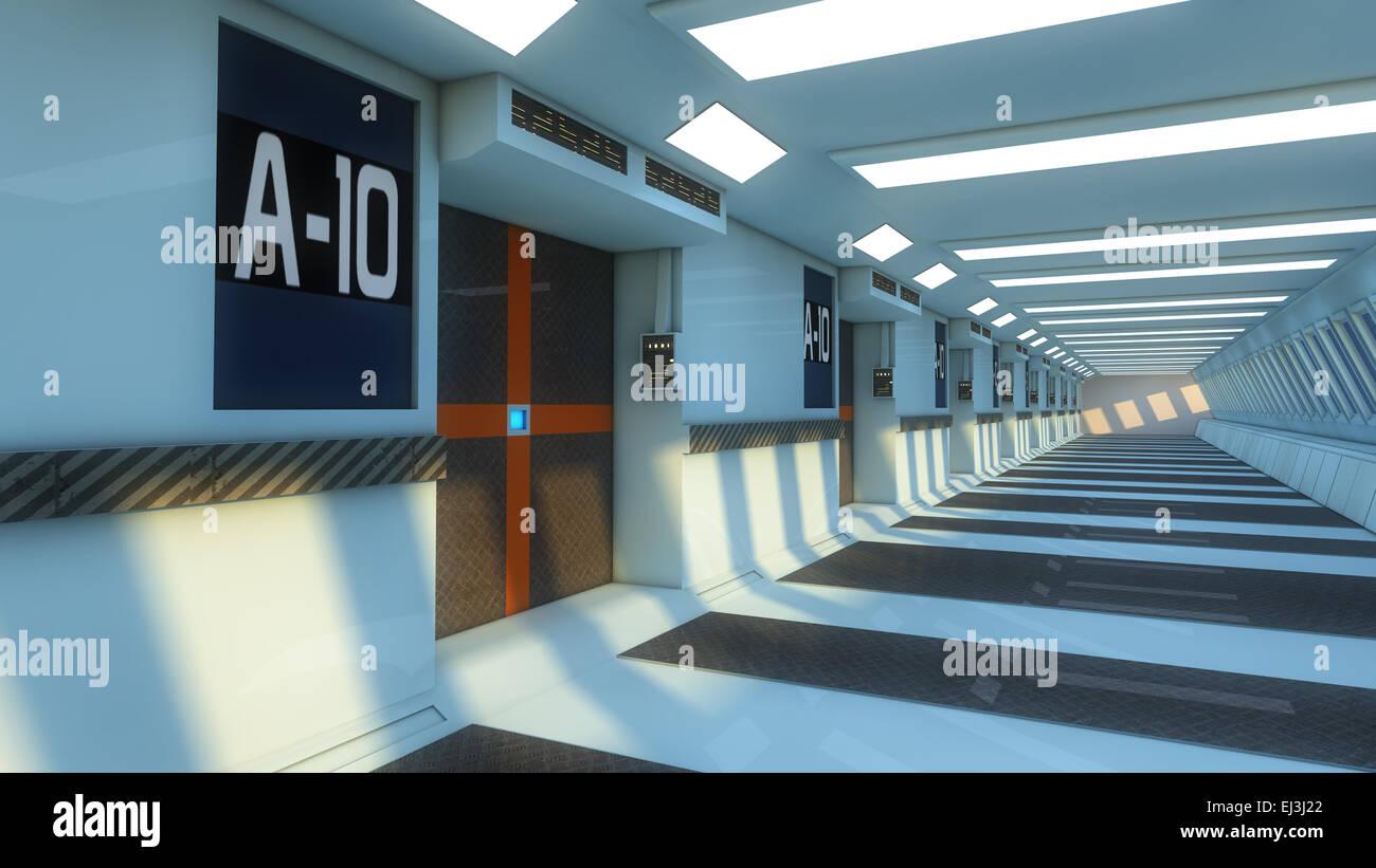 Futuristic interior - Stock Image