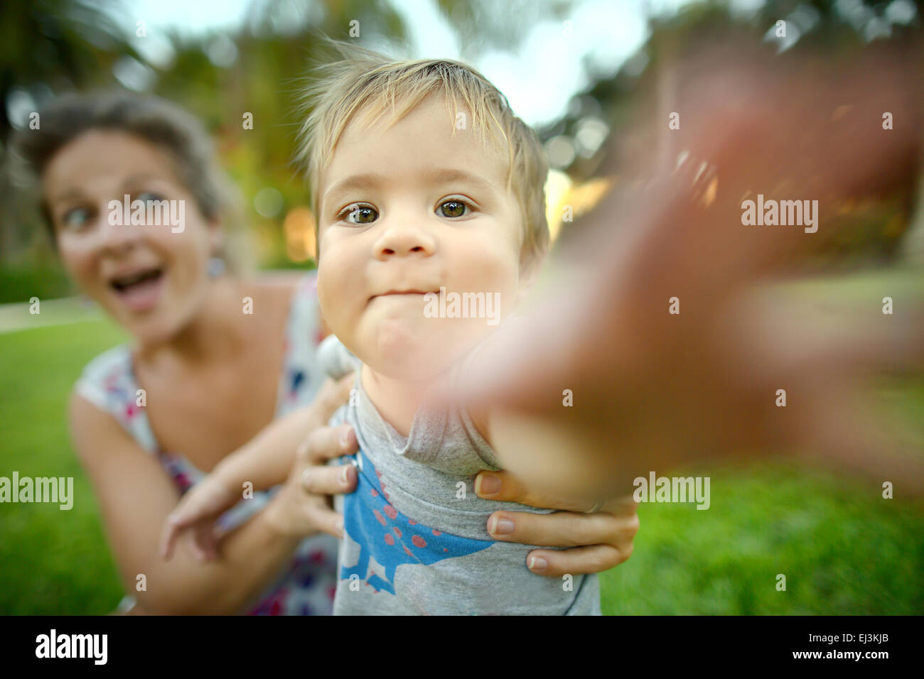 Mom and son - Stock Image