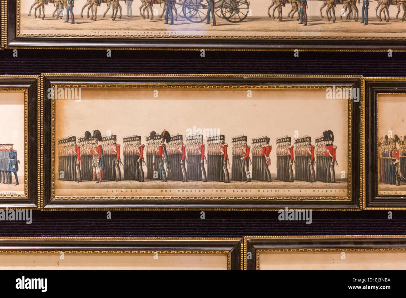 London, UK. 20 March 2015. Pictured: The Funeral Procession of Arthur, Duke of Wellington, 46 sheets of paper. More - Stock Image
