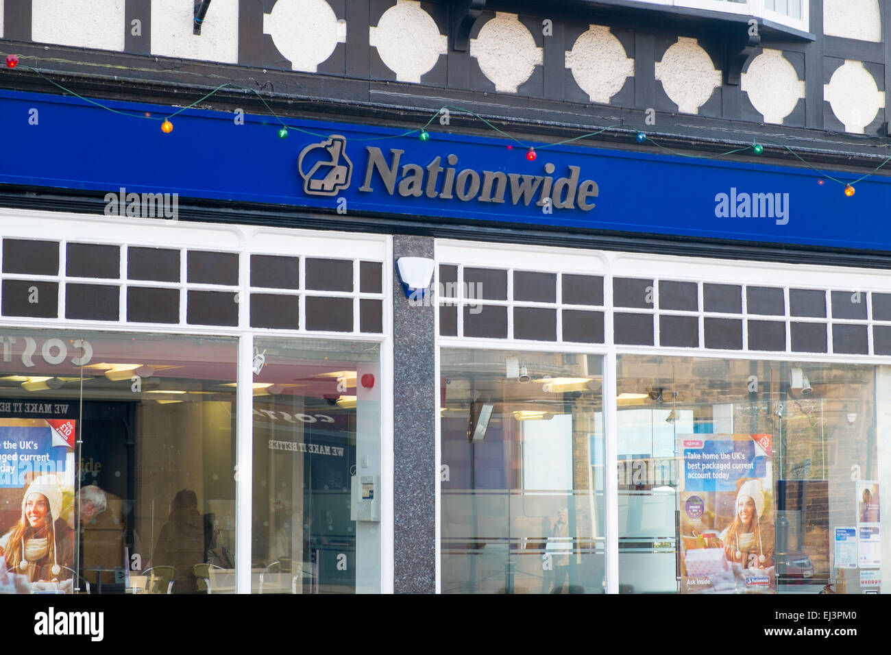 nationwide building society in matlock,derbyshire,england - Stock Image