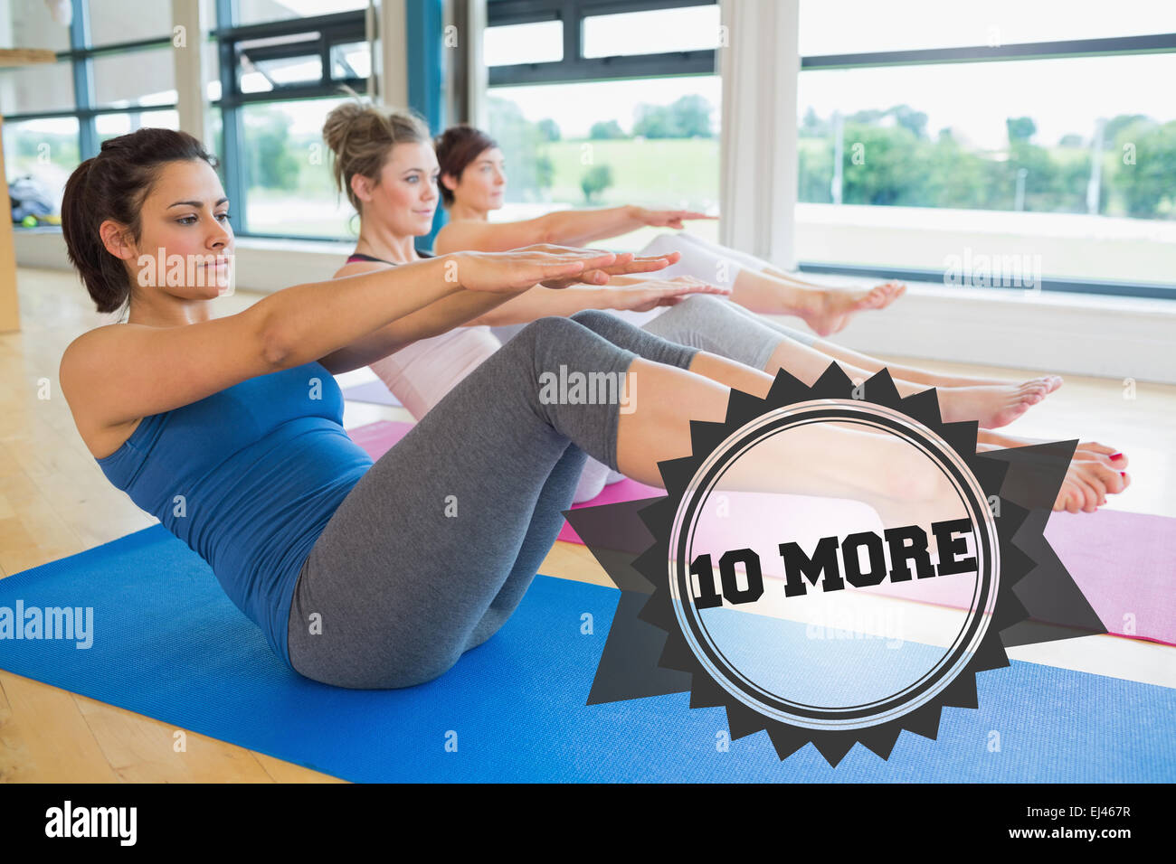 10 more against badge - Stock Image