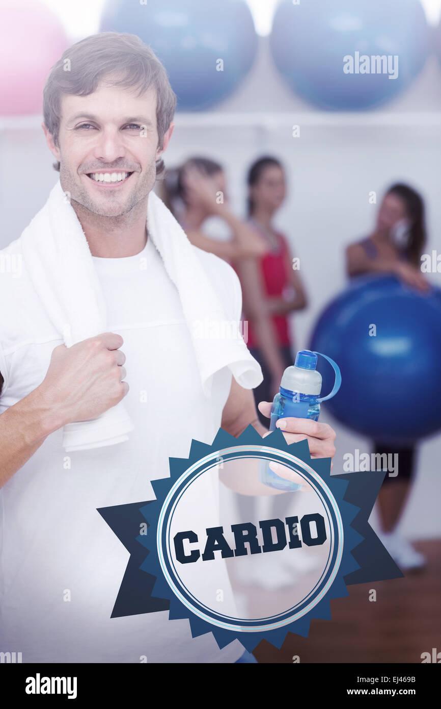 Cardio against badge - Stock Image
