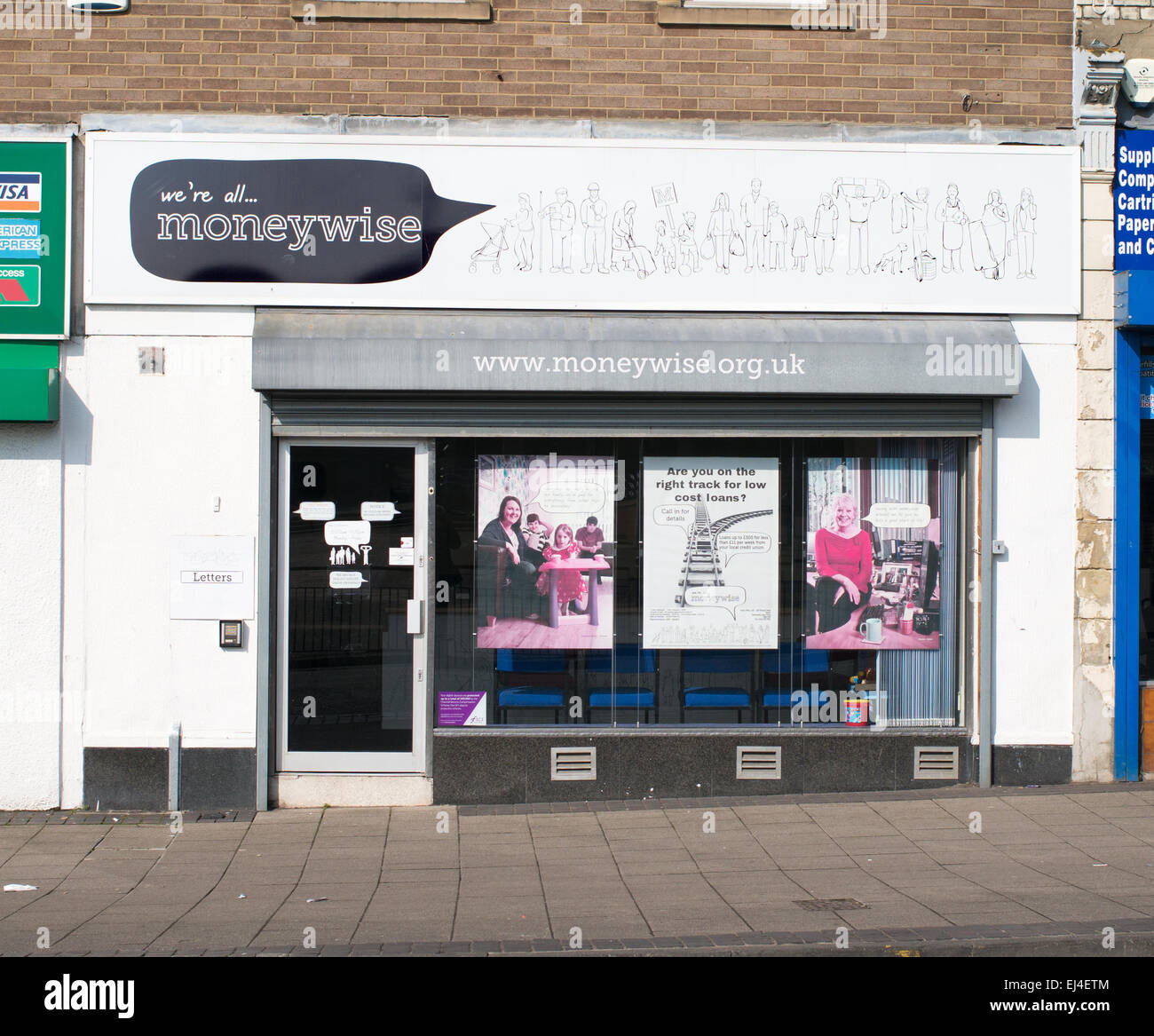 Moneywise credit union offices Byker, north east England, UK - Stock Image