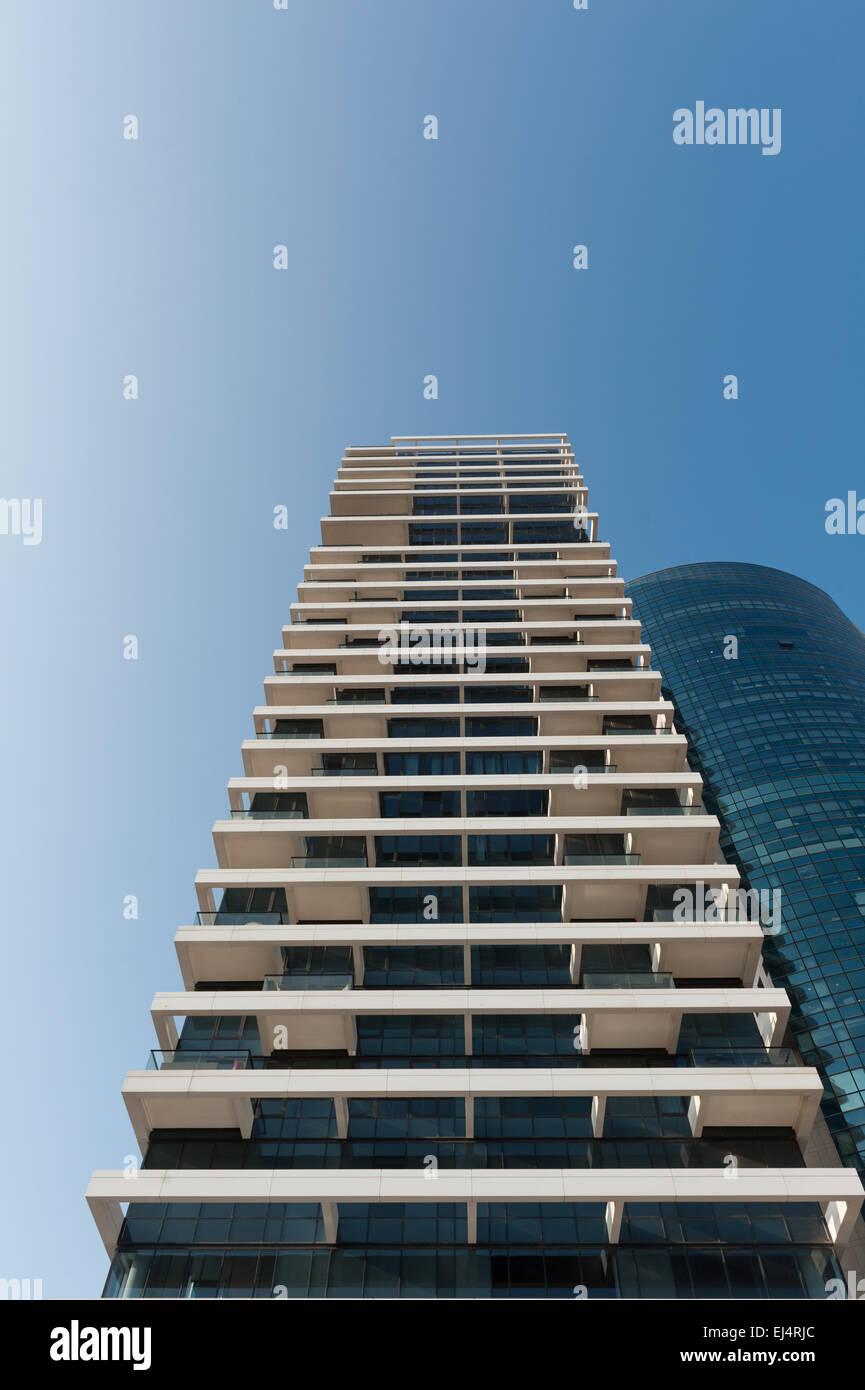 Israel, Tel Aviv-Yafo, 1 Rothschild Boulevard Tower - Stock Image