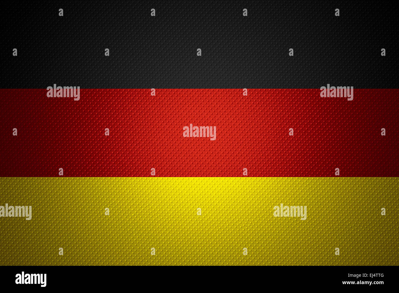 Germany flag or German banner on abstract texture - Stock Image