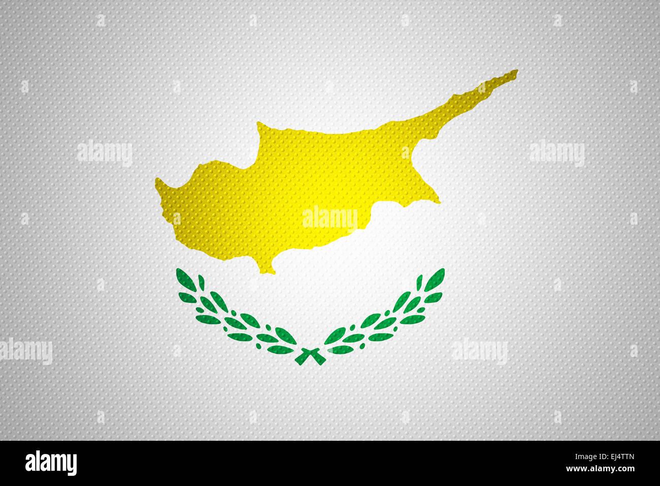 Cyprus flag or Cypriot banner on abstract texture - Stock Image