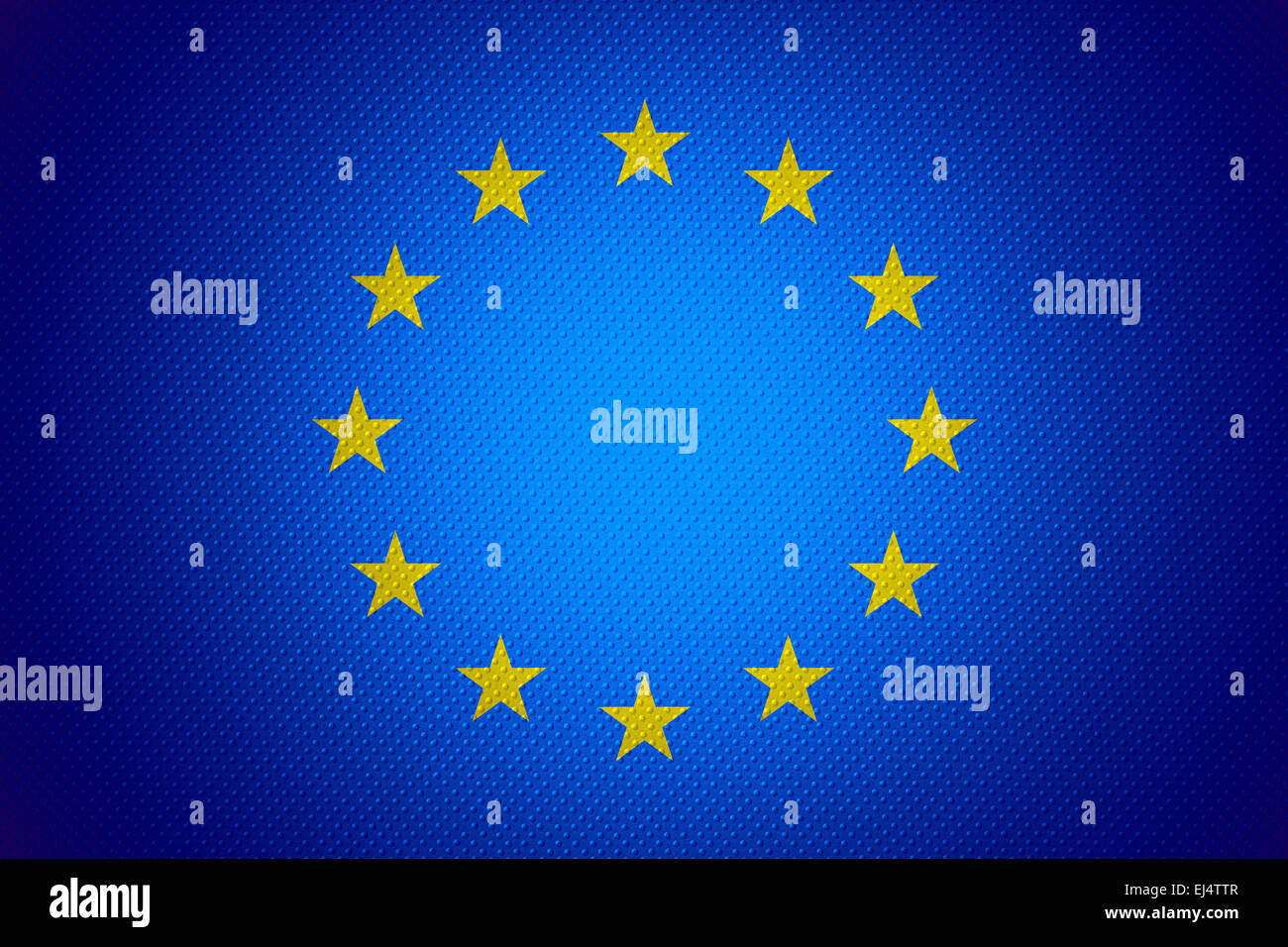 European Union flag or banner on abstract texture - Stock Image