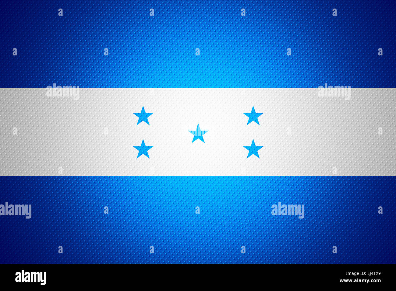 Honduras flag or banner on abstract texture Stock Photo