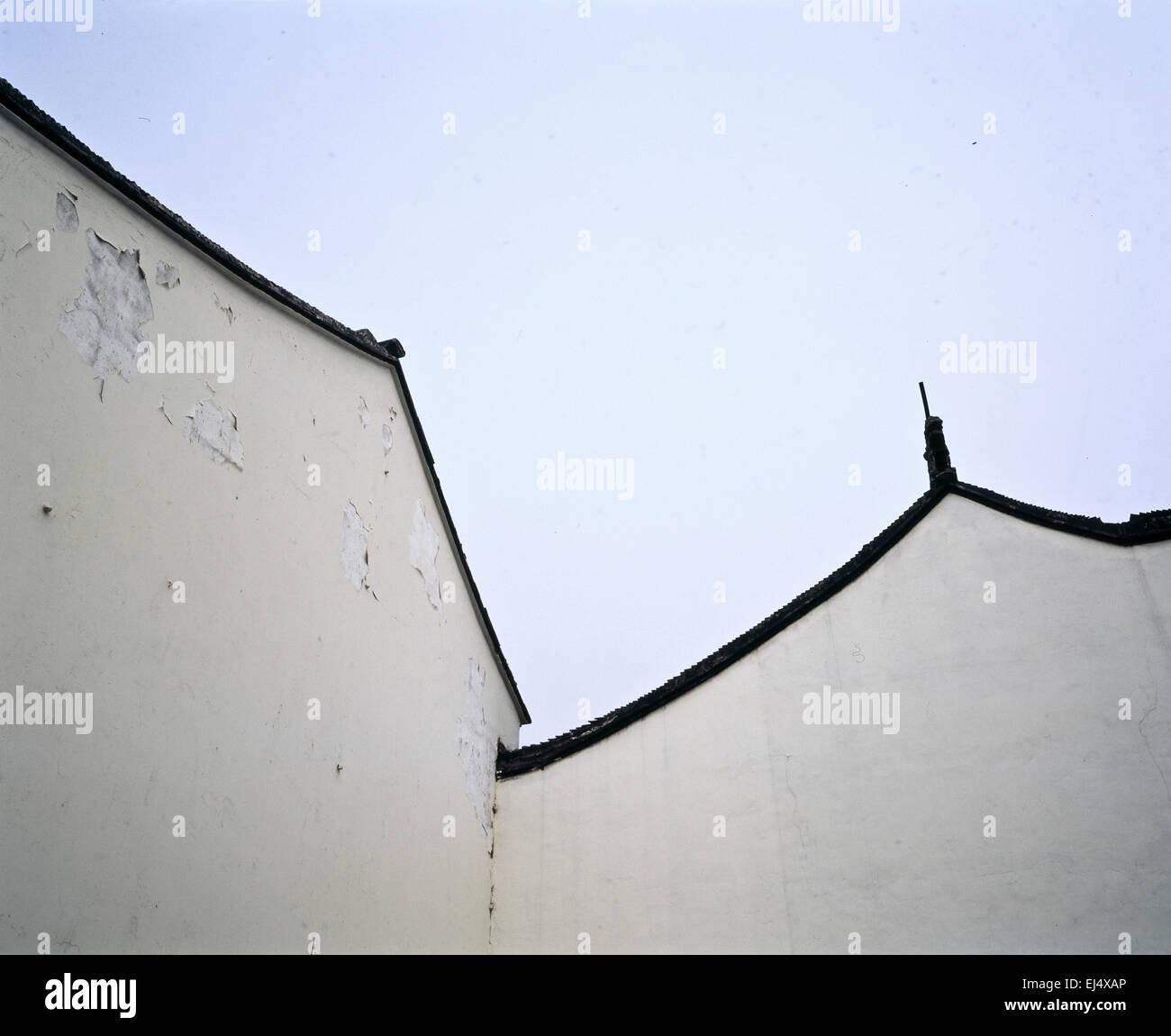 Architecture detail, Suzhou,Jiangsu Province, China - Stock Image