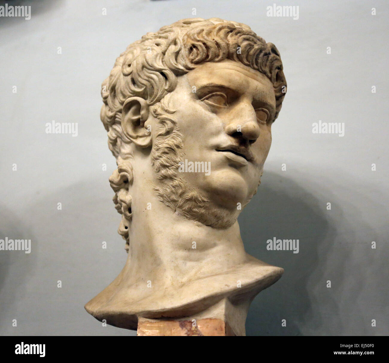 Bust of roman emperor Nero(37-68 AD) at the Capitoline Museums. Rome. Italy. - Stock Image