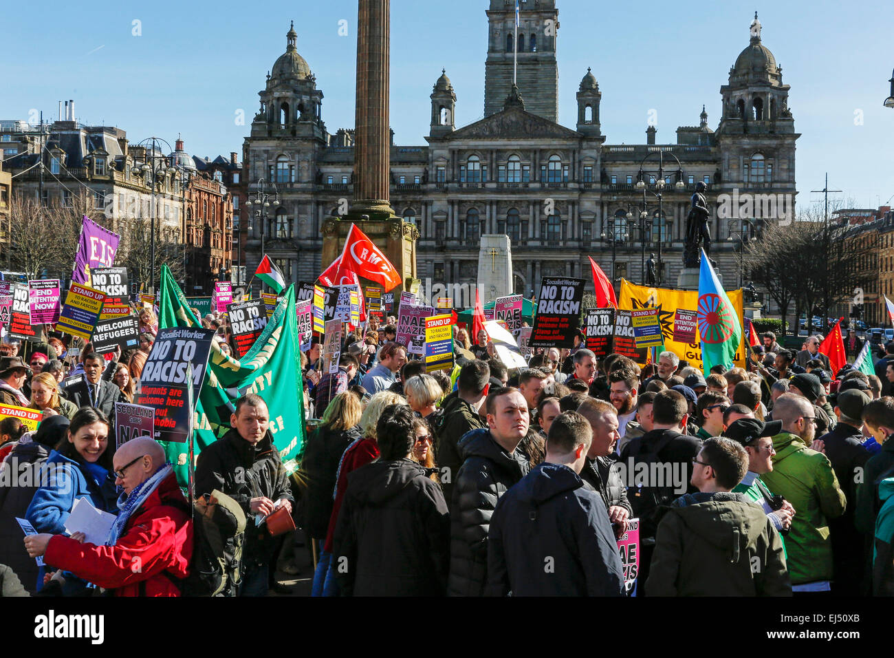 Glasgow, Scotland, UK. 21st March, 2015. In support of the International Day for the Elimination of Racial Discrimination, - Stock Image