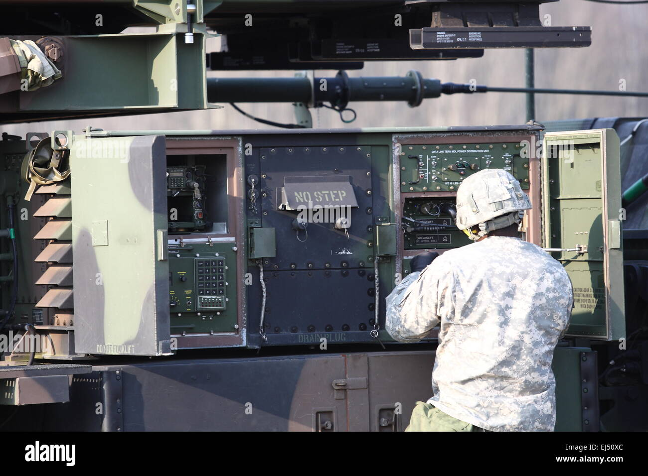 Sochaczew, Poland 21st, March 2015 U.S. Army Europe's 10th Army Air and Missile Defense Unit deployed to Poland - Stock Image