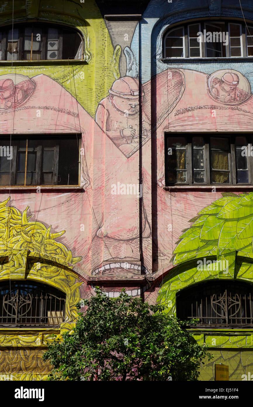 Rome. Italy. Street art by Blu on Via del Porto Fluviale, Ostiense. - Stock Image