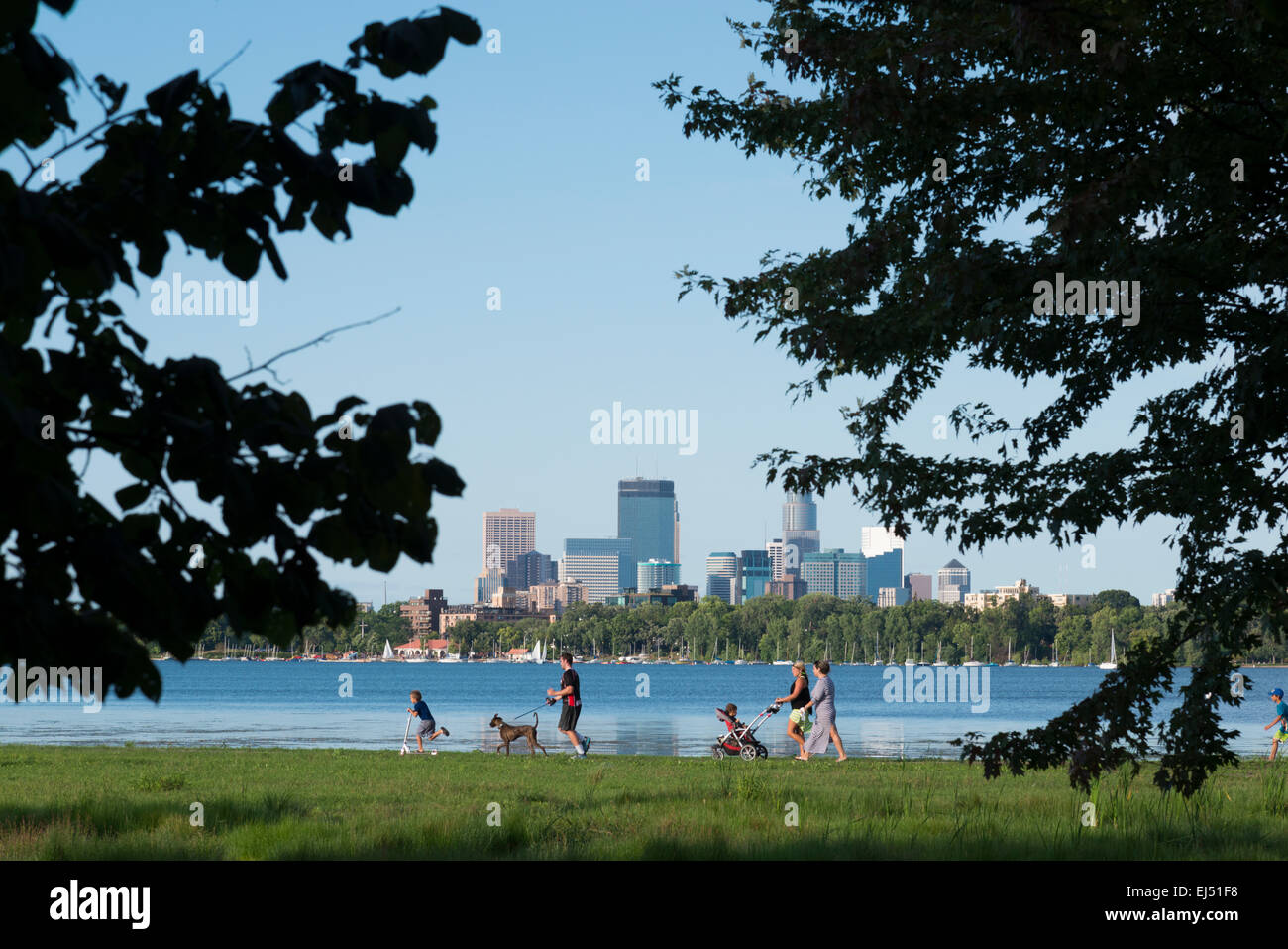 Lake Calhoun. Ground rounds scenic byways. Minneapolis. Minnesota. USA. - Stock Image