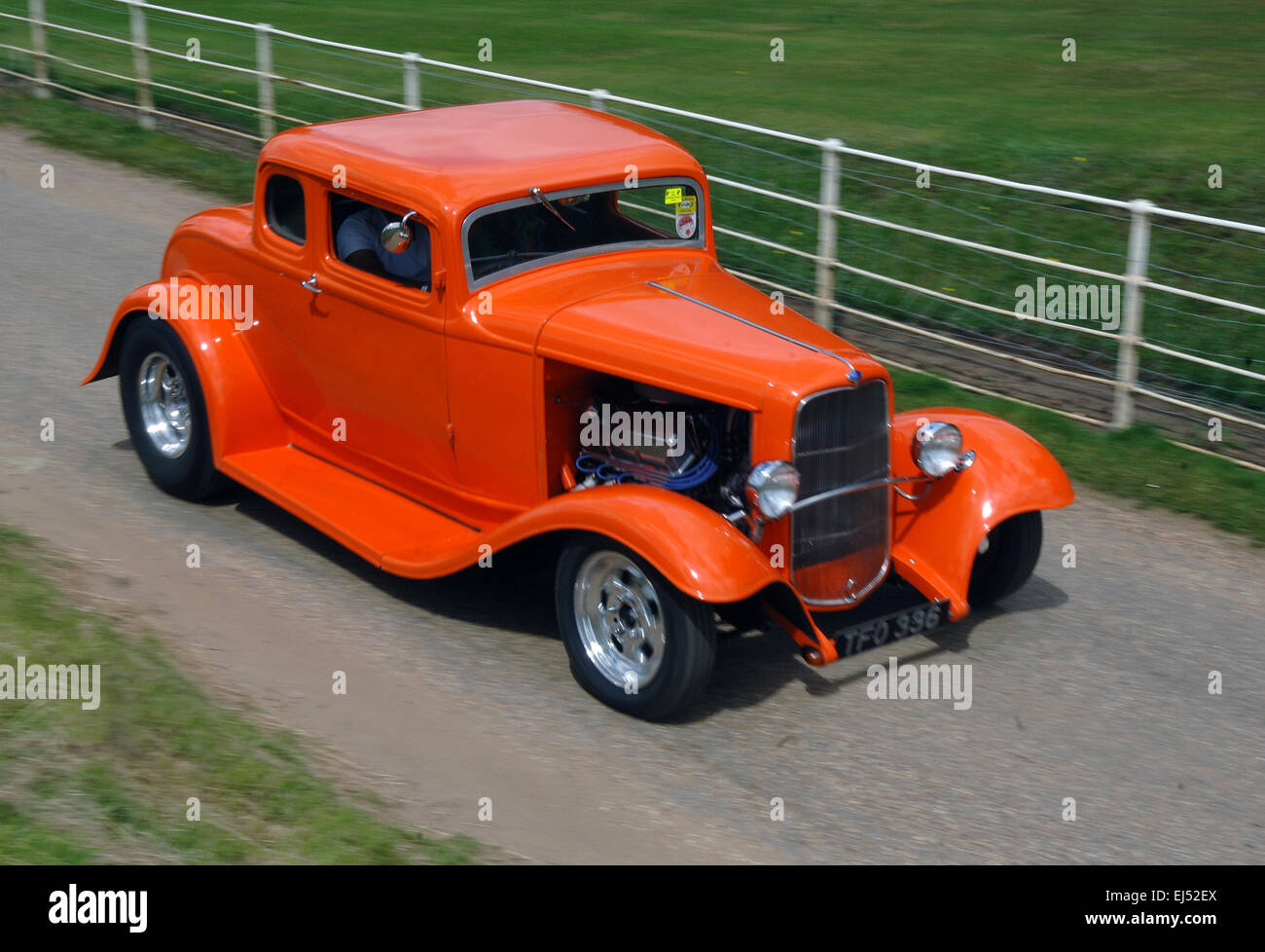 1932 Ford Model B 5-window Coupe hot rod Stock Photo: 80017026 - Alamy