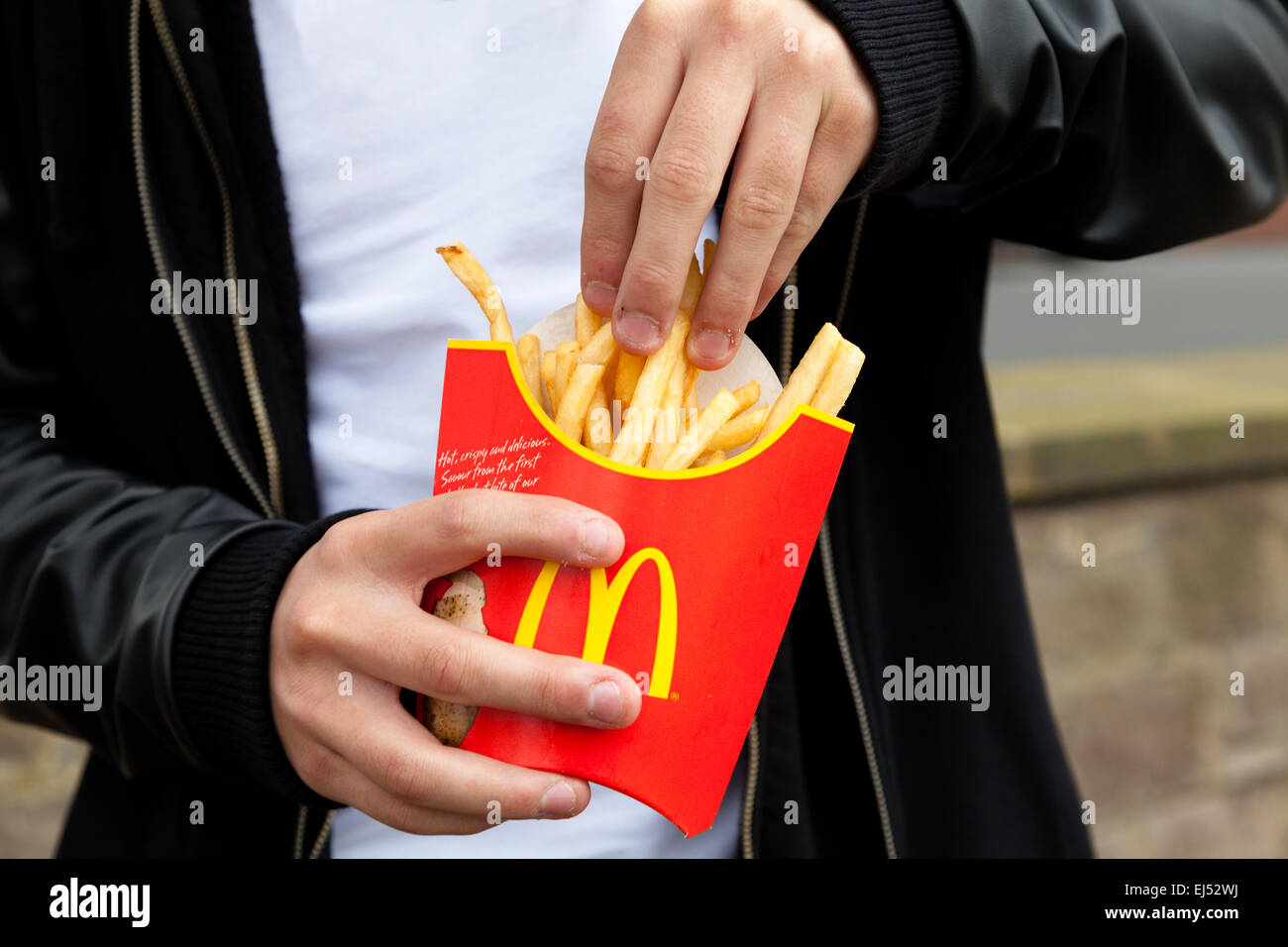 Mcdonald s fries - Stock Image