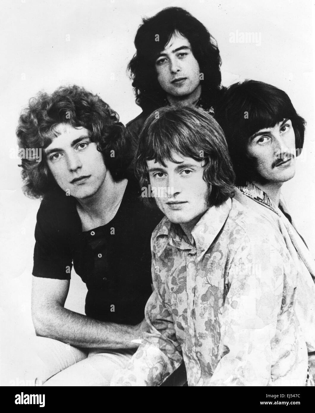 Led zeppelin promotional photo of uk rock group about 1968 stock image
