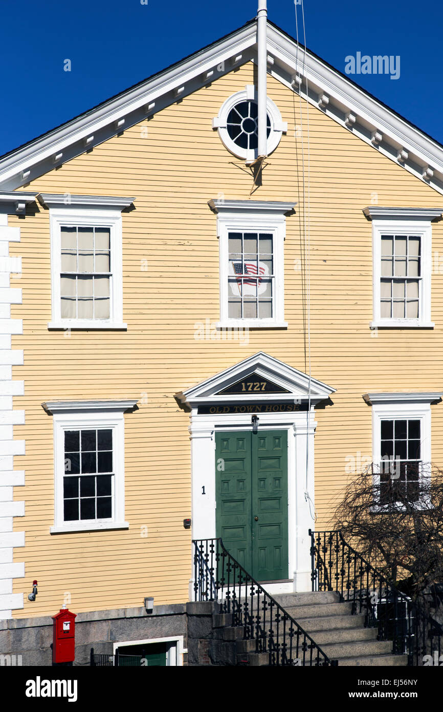 Historic Old Town Hall House, constructed 1727, Marblehead, Massachusetts, USA - Stock Image