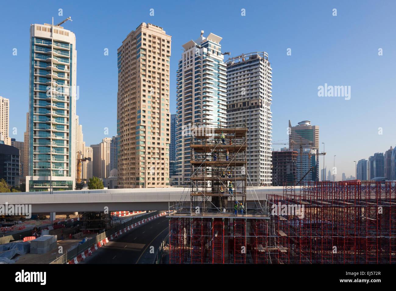 Construction Site in Dubai Stock Photo