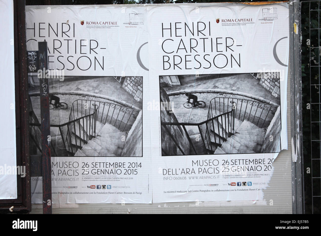 Posters Of The Exhibition French Photographer Henri Cartier Bresson In Museum Ara Pacis Rome Italy Photograph Taken By