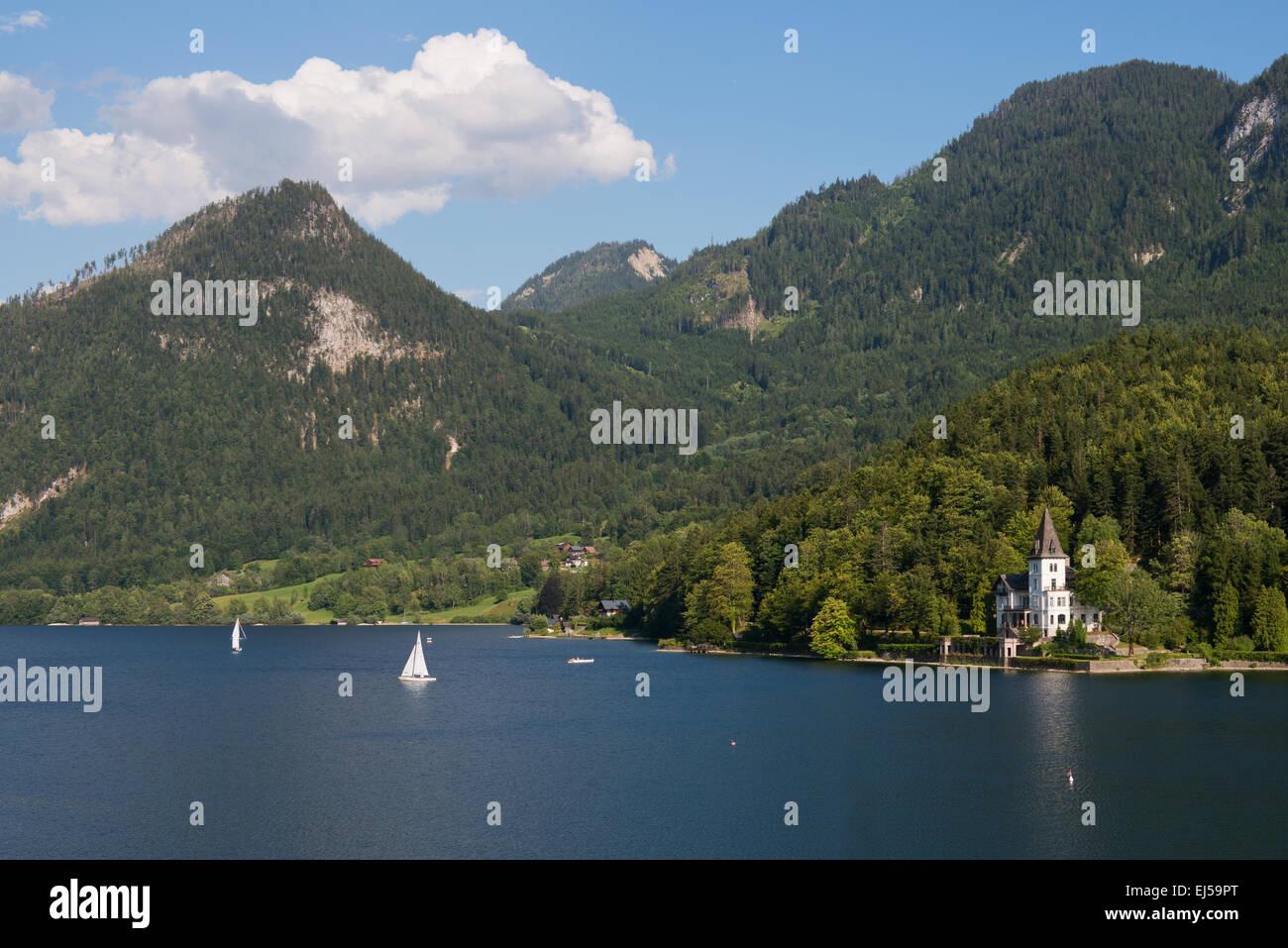 Villa Castiglioni am Grundlsee, Salzkammergut, Styria, Austria - Stock Image