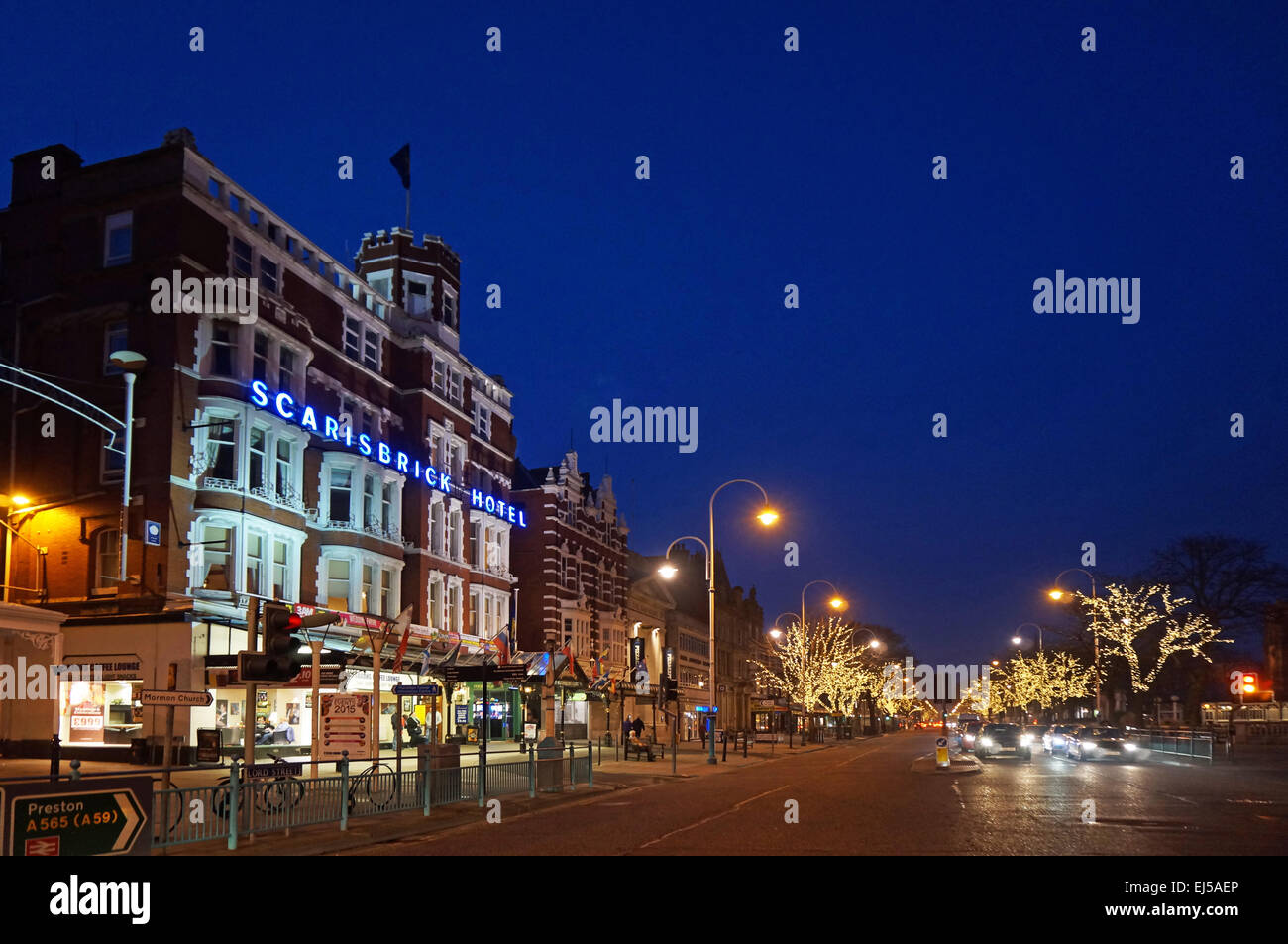 Scarisbrick Hotel, Southport, Lord Street Stock Photo