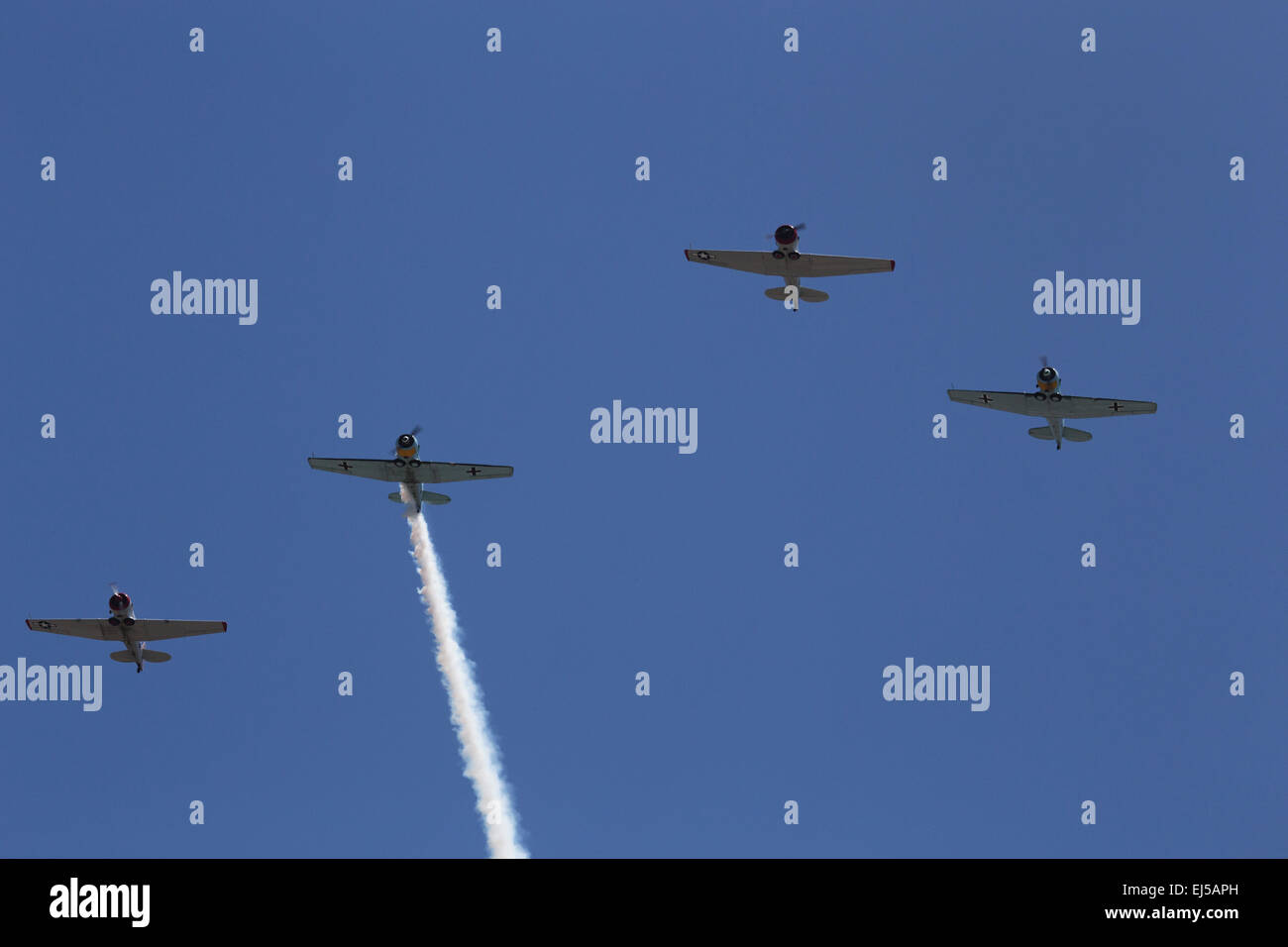 Condor Squadron flyover, Los Angeles National Cemetery Annual Memorial Event, May 26, 2014, California, USA - Stock Image