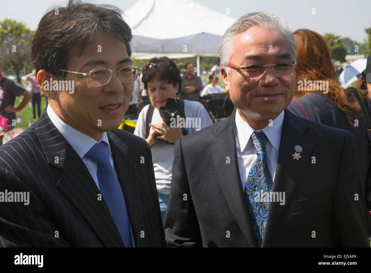 Diplomats attending Los Angeles National Cemetery Annual Memorial Event, May 26, 2014, California, USA - Stock Image