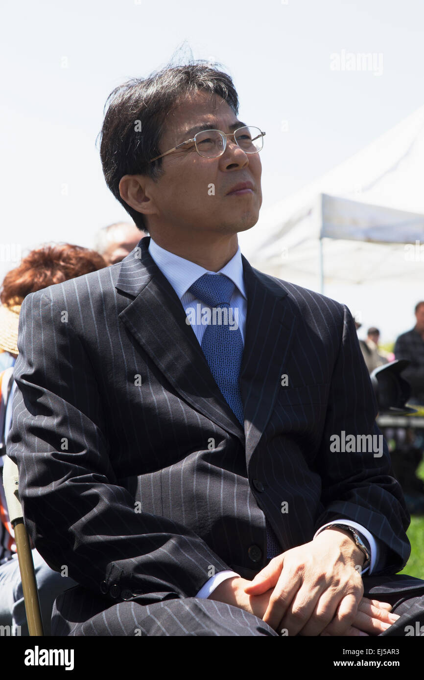 Diplomat attending Los Angeles National Cemetery Annual Memorial Event, May 26, 2014, California, USA - Stock Image