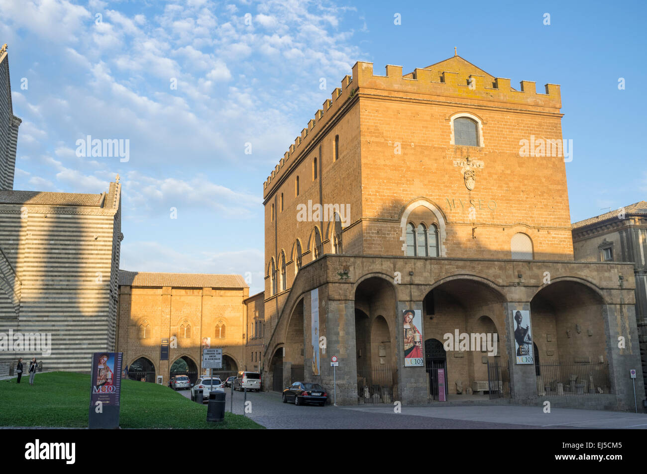 Palazzo Soliano, the papal palace of Orvieto, Umbria, Italy - Stock Image