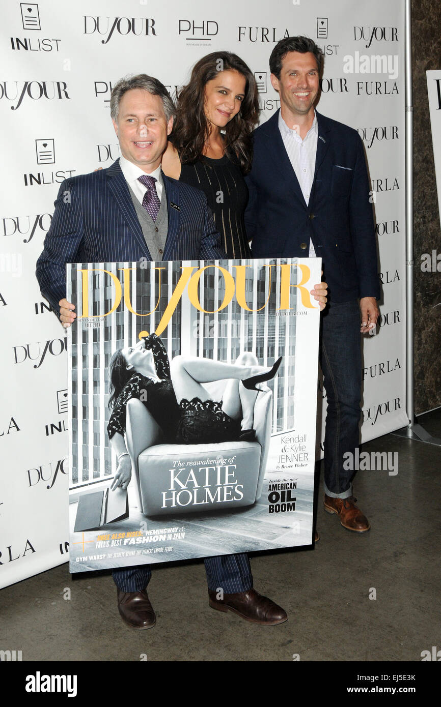 "Jason Binn and ""Furla"" Celebrating Dujour Magazine's Katie Holmes Fall Cover Featuring: Jason Binn,Katie Holmes,Gideon Stock Photo"