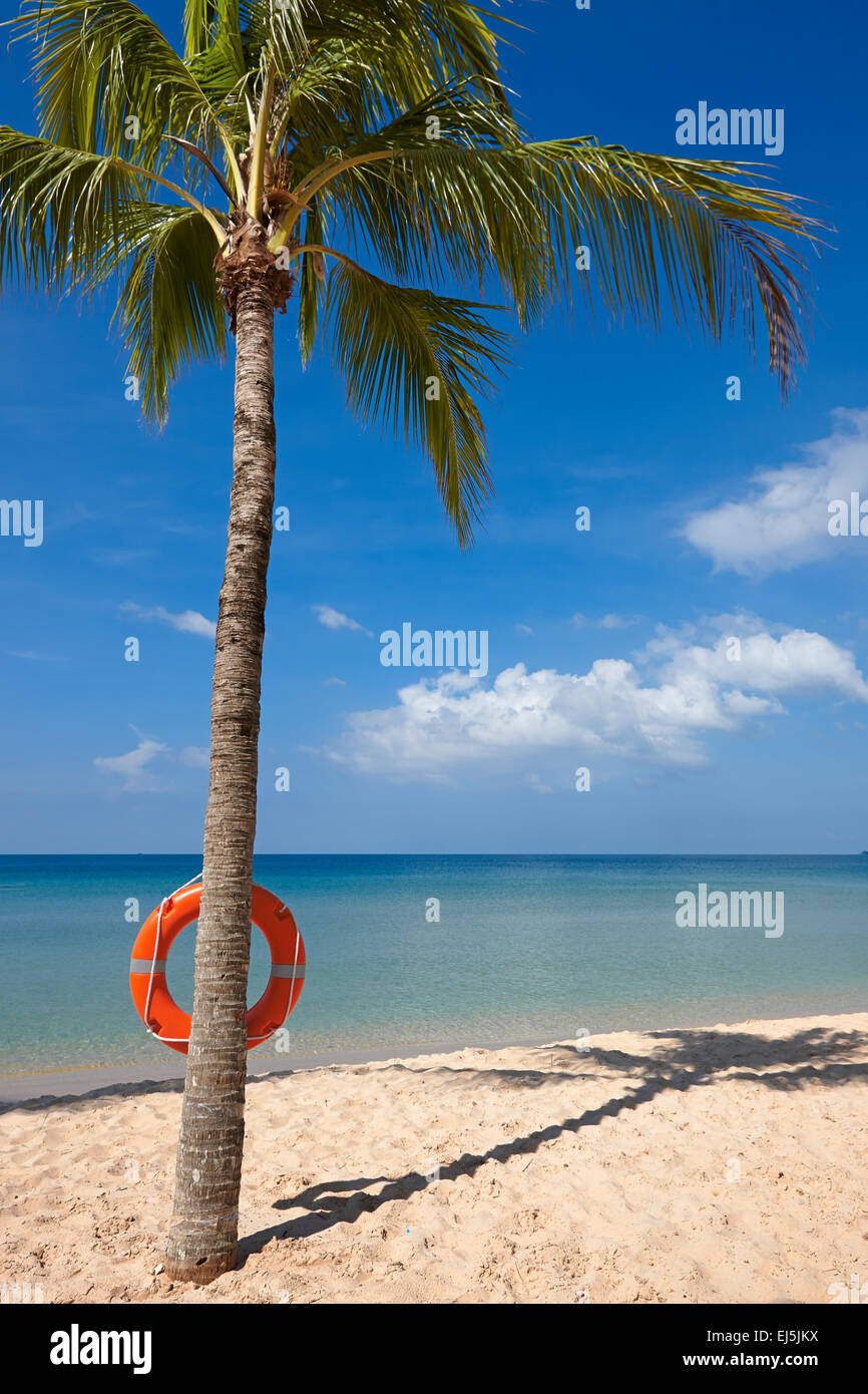 Beach at Vinpearl Resort, Phu Quoc island, Vietnam. - Stock Image