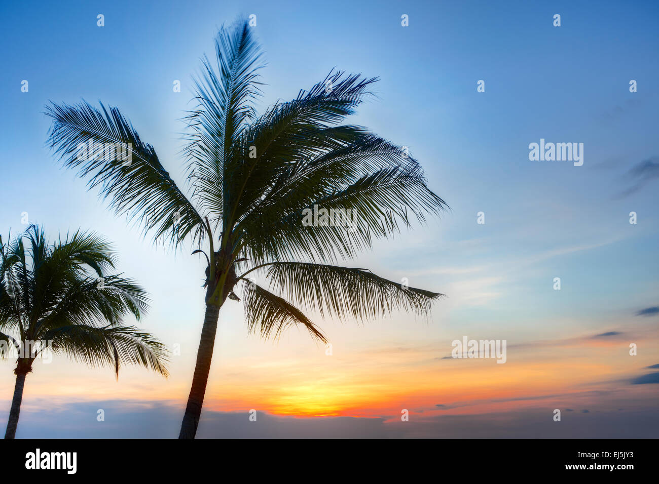 Sunset on Phu Quoc island, Vietnam. - Stock Image