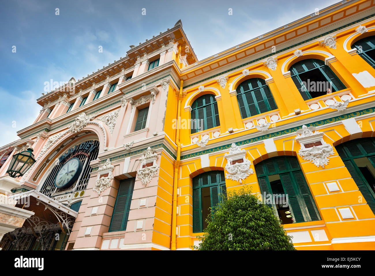 Exterior view of the Central Post Office building built based on the design of Gustave Eiffel. Distric 1, Ho Chi - Stock Image