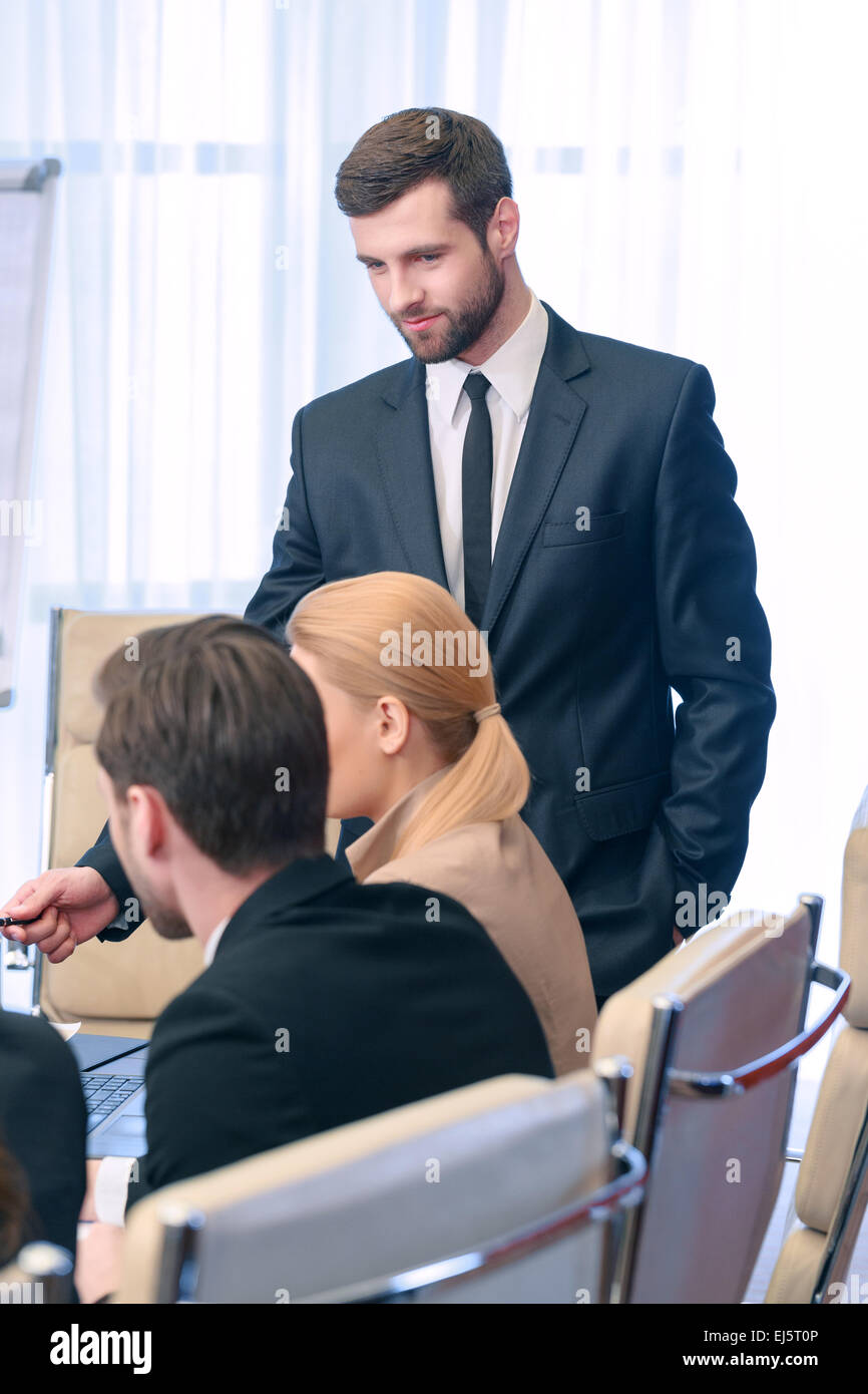 Business meeting leader - Stock Image