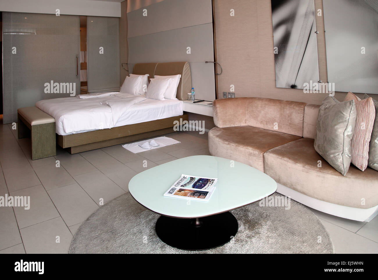 Room 1629 in the Yas Viceroy Hotel, Abu Dhabi. - Stock Image