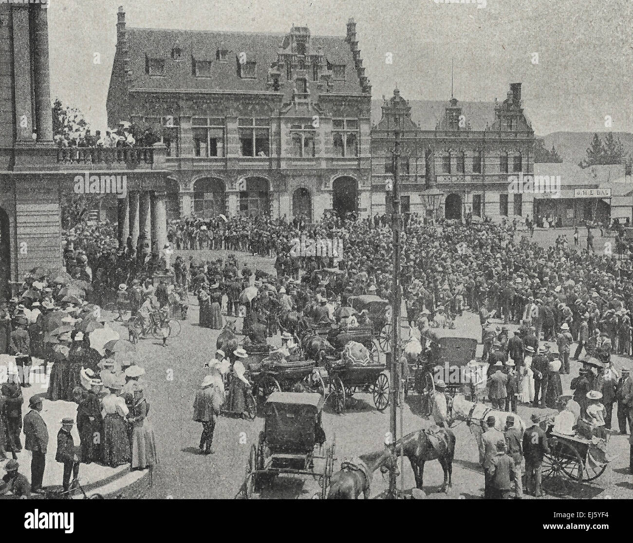 Muster of Town Burghers - Pretoria, South Africa, November 11, 1899 - Stock Image