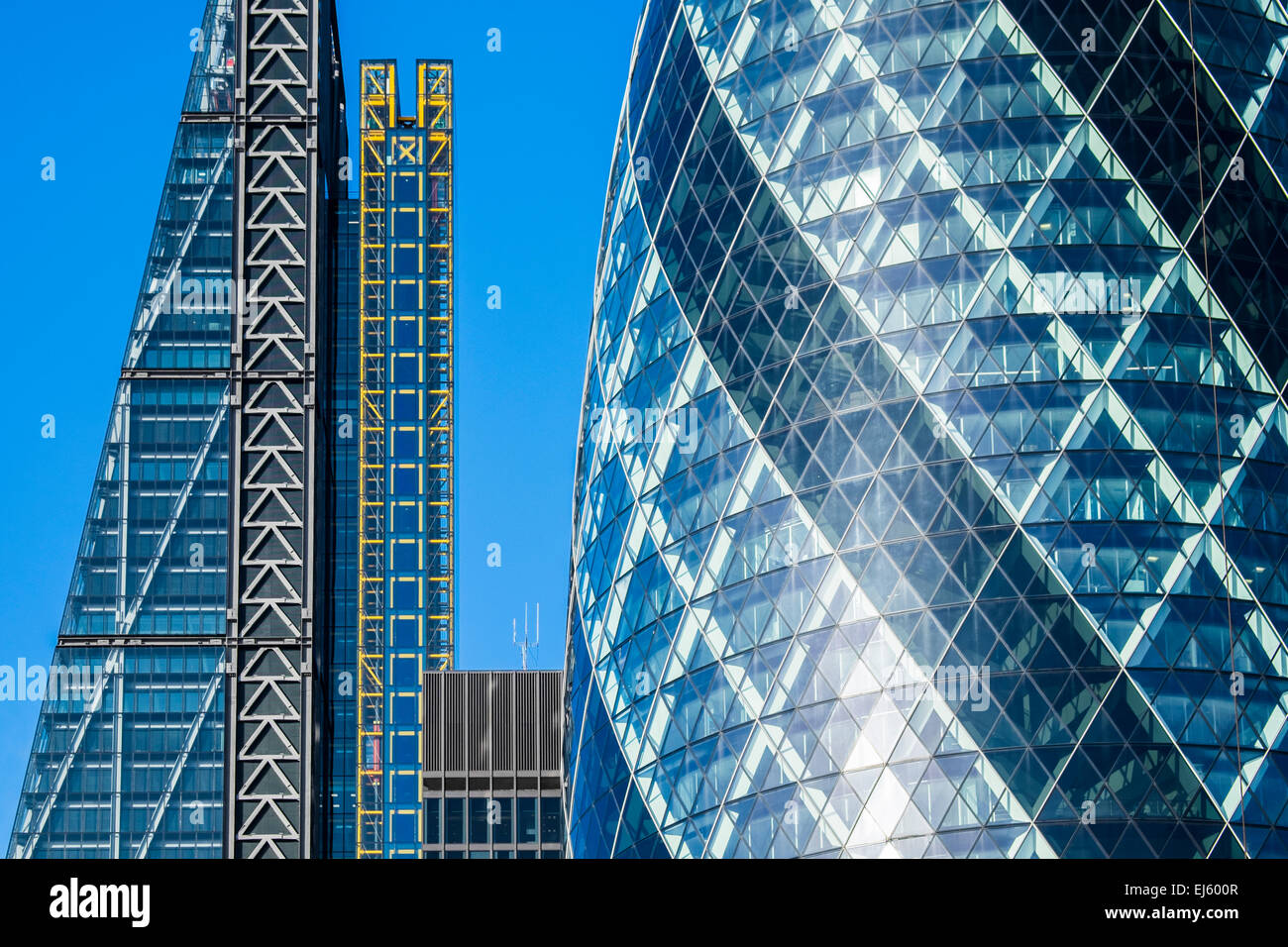 Leadenhall building & The Gherkin - City of London - Stock Image