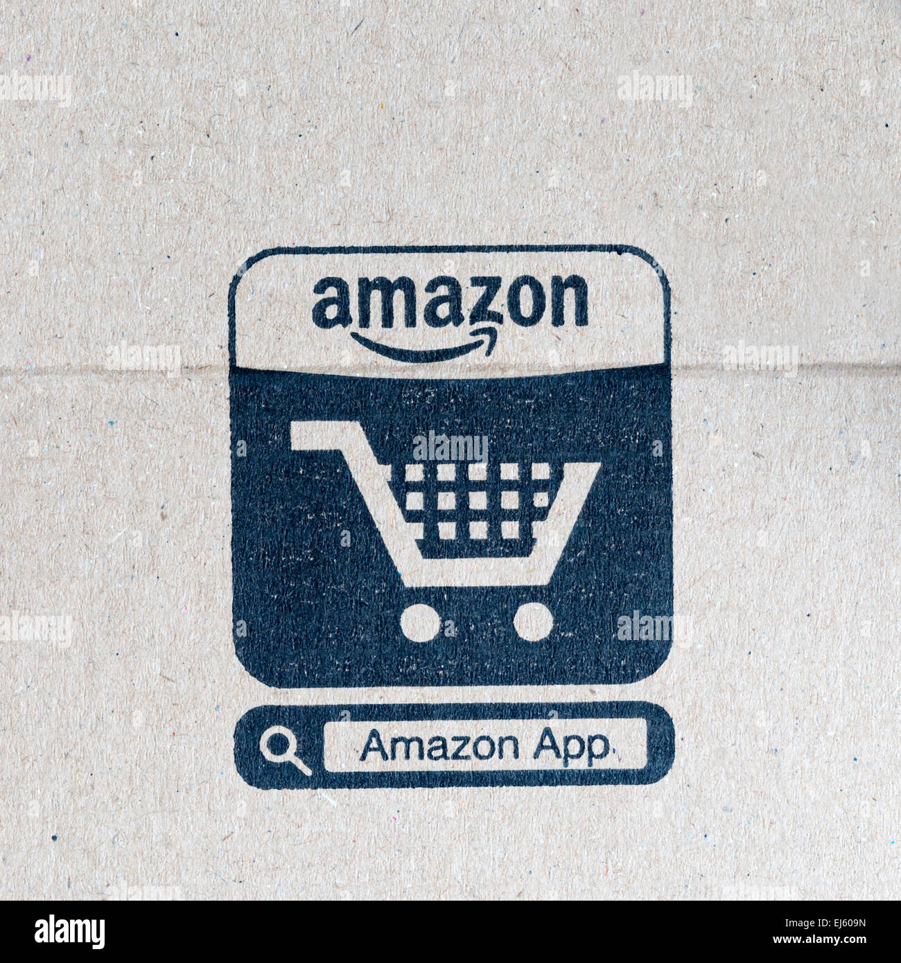 Symbol For Amazon App On Cardboard Packaging The App Allows Online