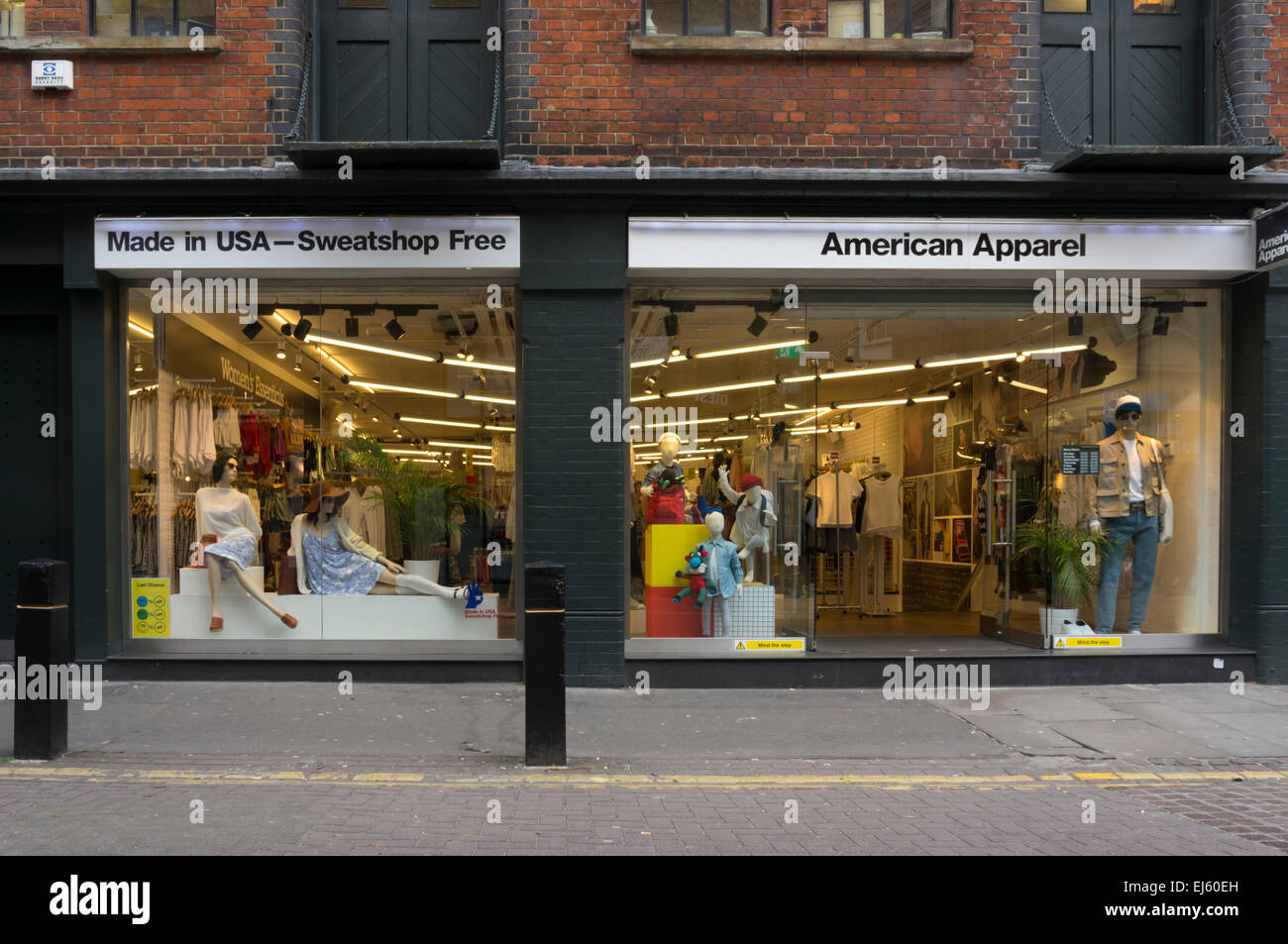 American Apparel shop in Covent Garden, Central London. - Stock Image