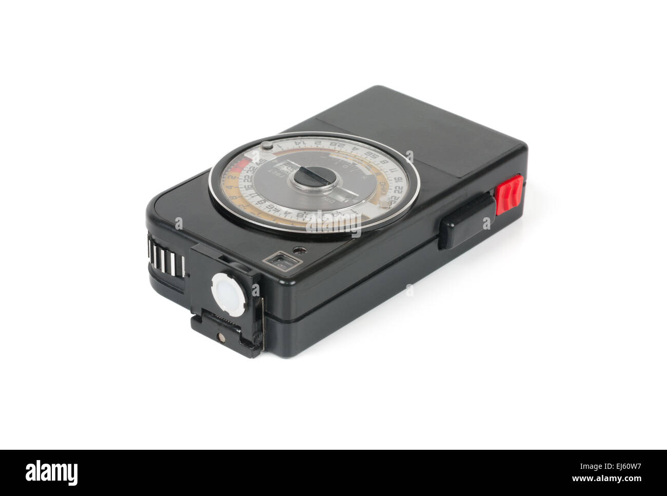 Exposure meter isolated on the white background - Stock Image