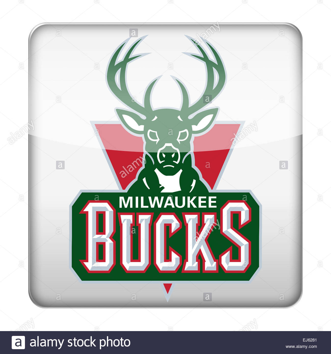 Milwaukee Bucks logo icon - Stock Image