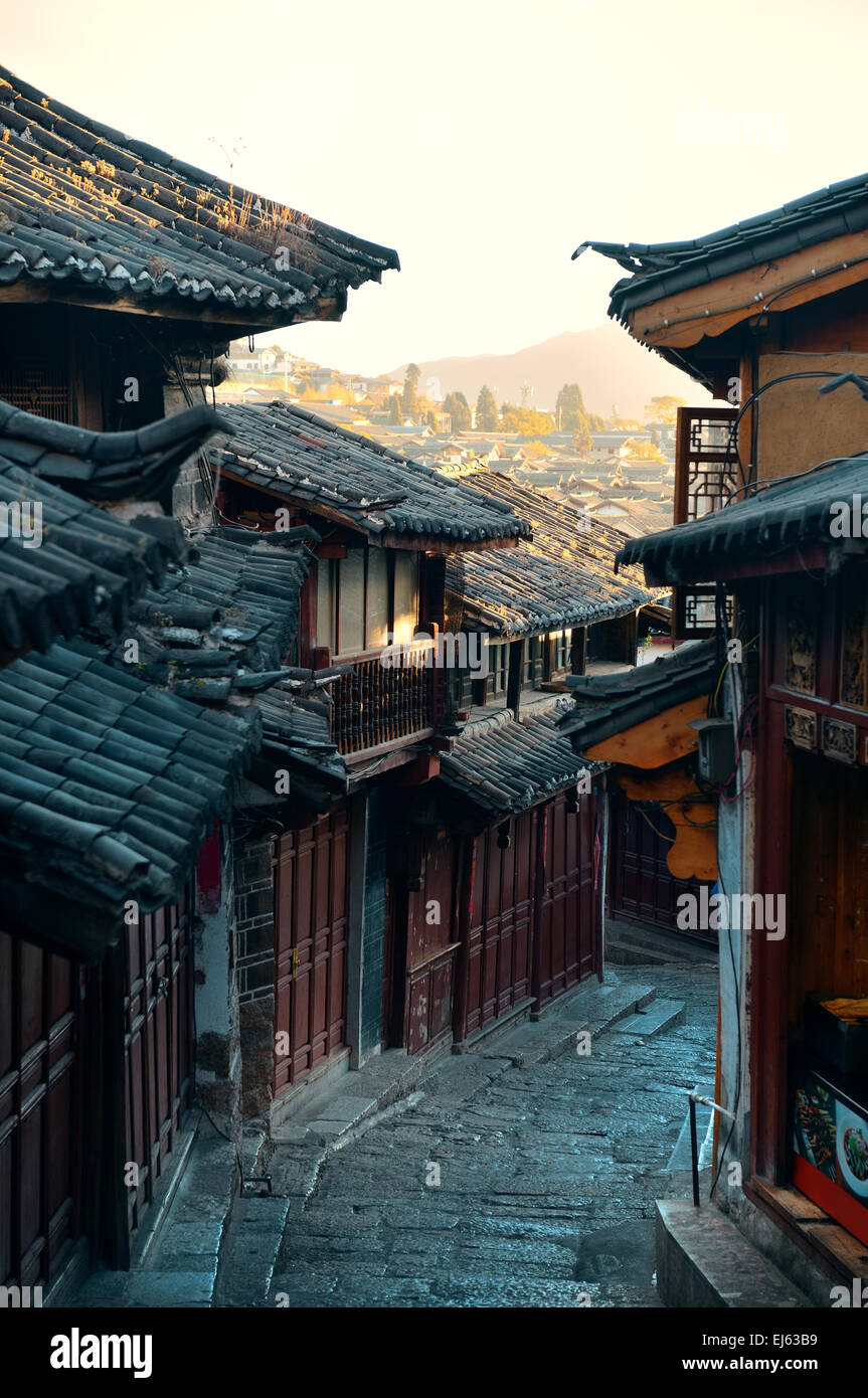 Old street view in Lijiang, Yunnan, China. - Stock Image